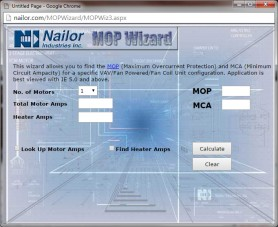 Nailor MOP Wizard