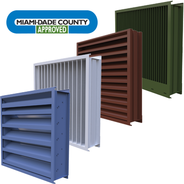 Florida Product Approved and Miami-Dade Qualified Louvers